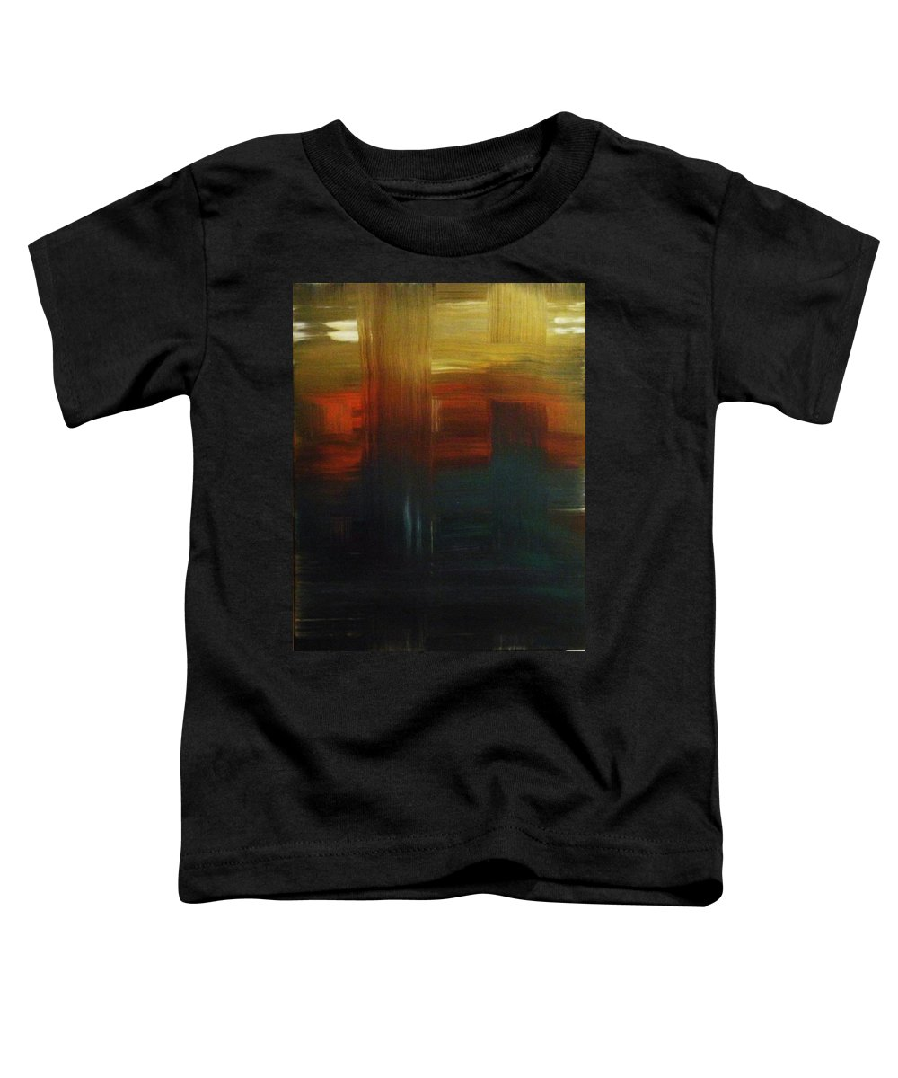 Abstract Toddler T-Shirt featuring the painting Crossroads by Todd Hoover