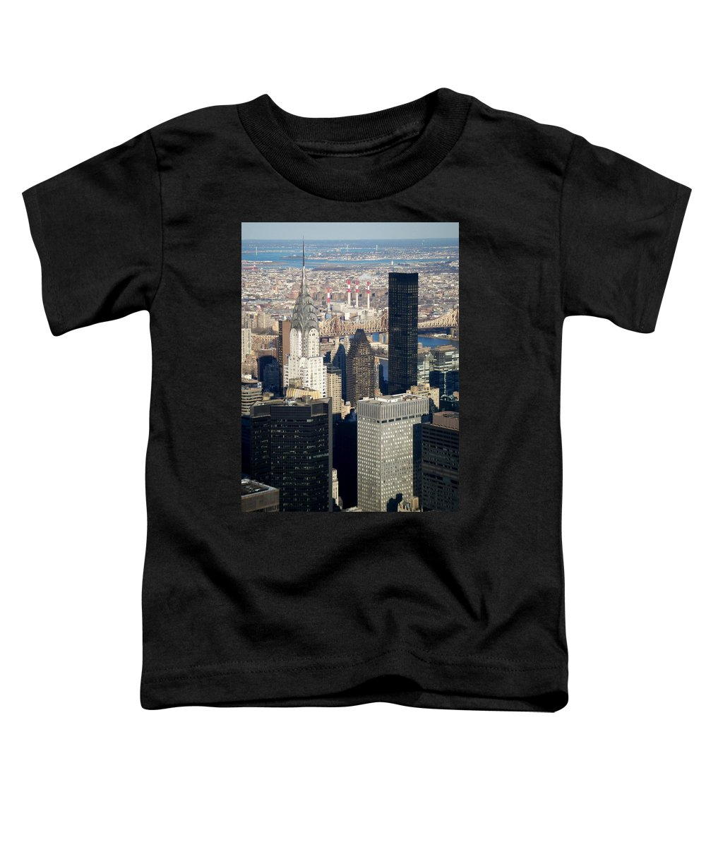 Crystler Building Toddler T-Shirt featuring the photograph Crystler Building by Anita Burgermeister