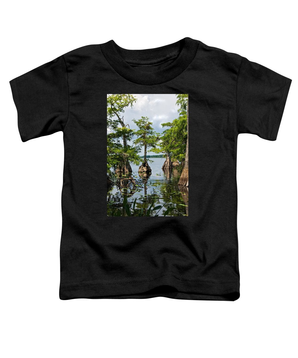 Trees Toddler T-Shirt featuring the photograph Cypress Reflections by Christopher Holmes
