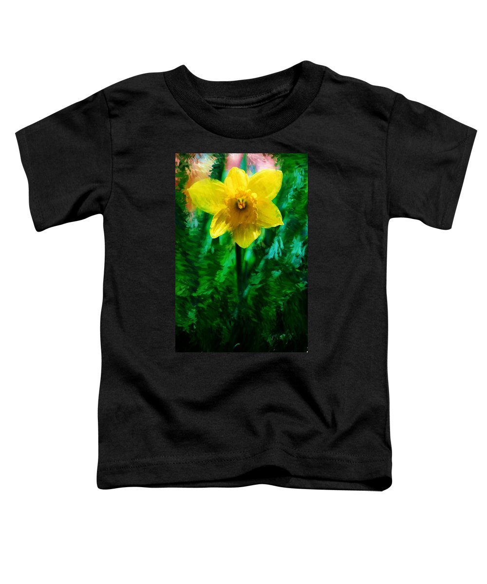 Abstract Toddler T-Shirt featuring the photograph Daffy Dill by David Lane