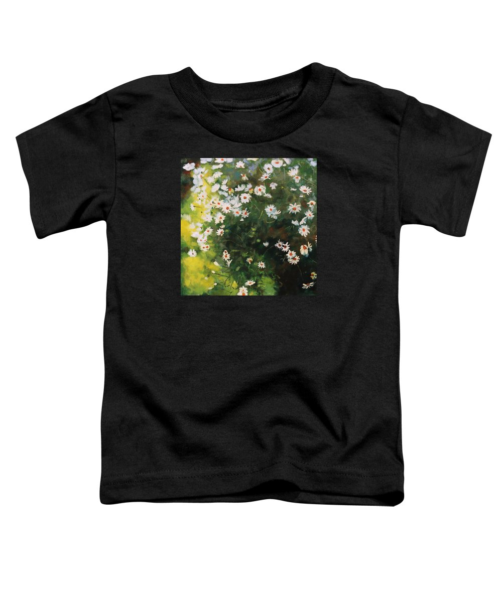 Daisies Toddler T-Shirt featuring the painting Daisies by Iliyan Bozhanov