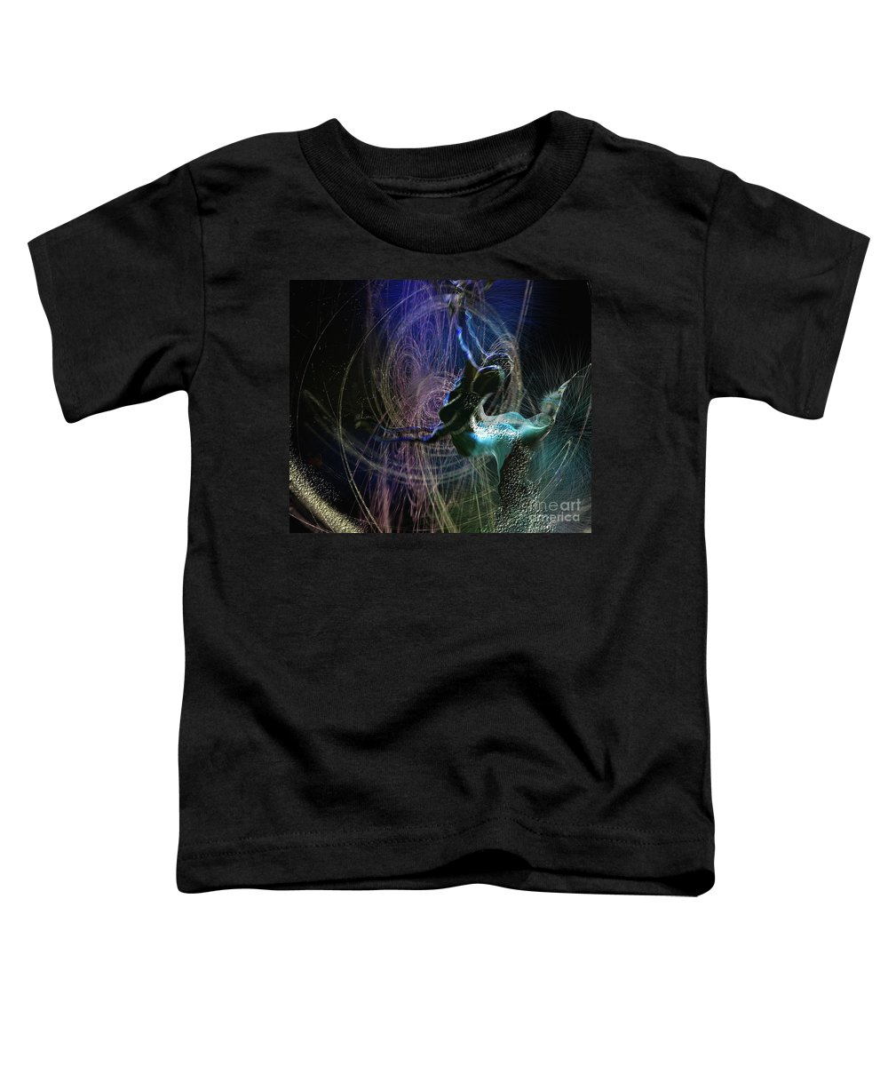 Nature Painting Toddler T-Shirt featuring the painting Dance Of The Universe by Miki De Goodaboom