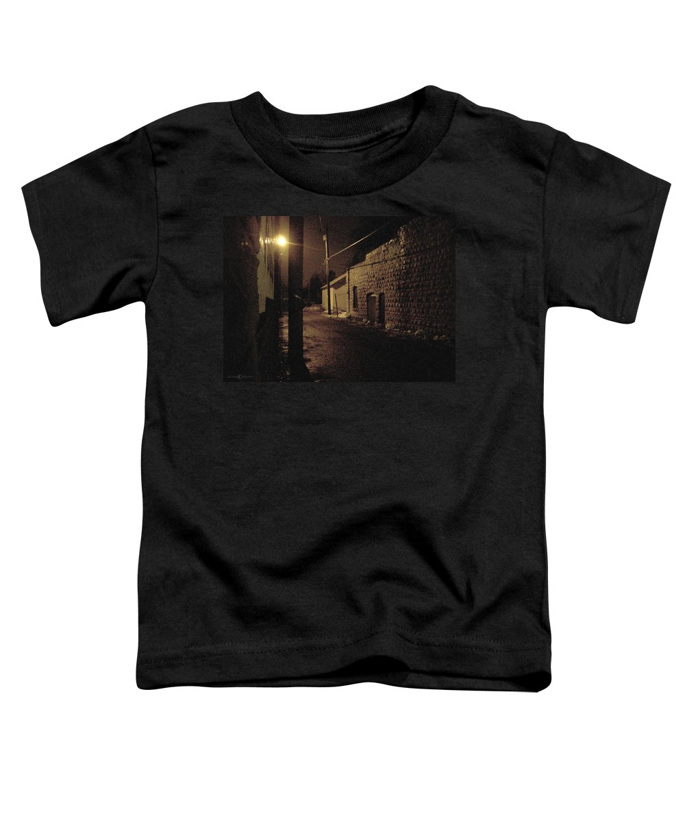 Alley Toddler T-Shirt featuring the photograph Dark Alley by Tim Nyberg