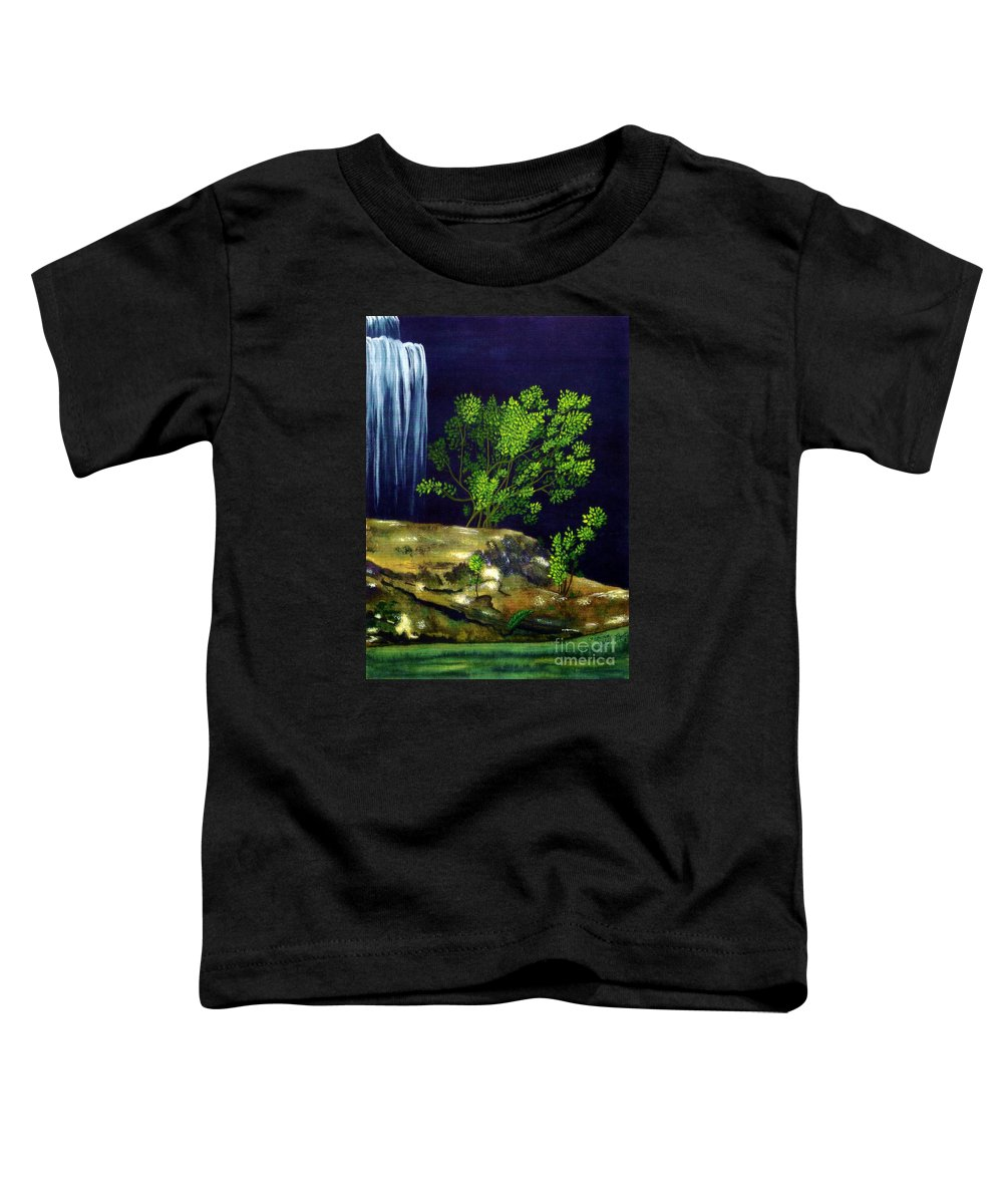 Fine Art Toddler T-Shirt featuring the painting Dark Waters by Patricia Griffin Brett