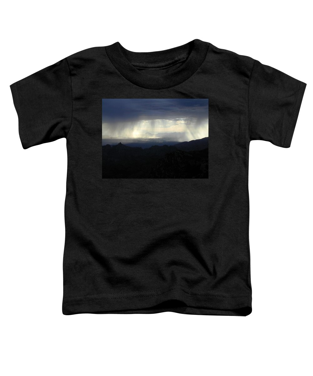 Darkness Toddler T-Shirt featuring the photograph Darkness Over The City by Douglas Barnett