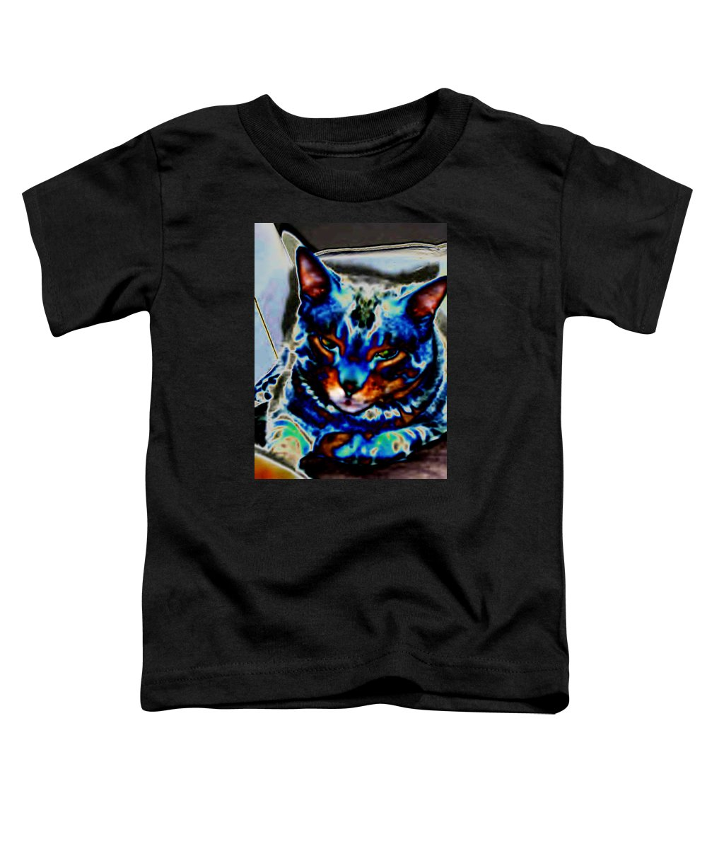 Cat Toddler T-Shirt featuring the photograph Day Dreamer by Dawn Johansen