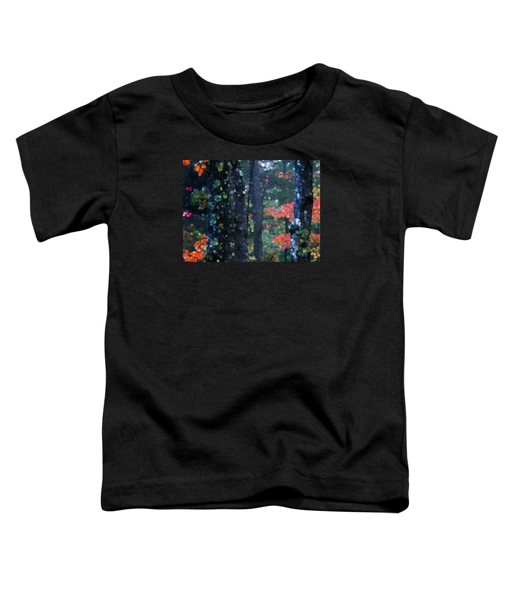 Landscape Toddler T-Shirt featuring the digital art Deep Woods Mystery by Dave Martsolf
