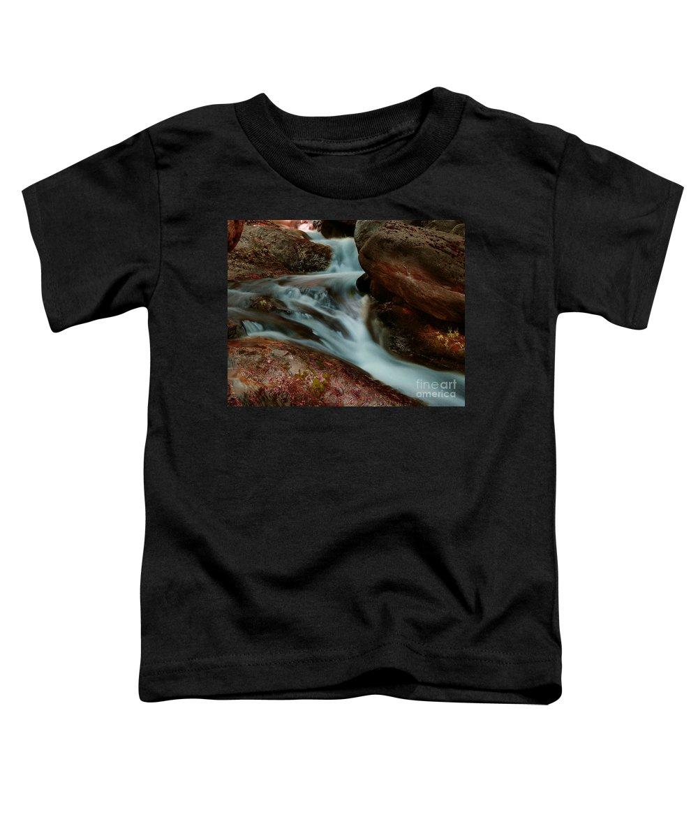 Creek Toddler T-Shirt featuring the photograph Deer Creek 04 by Peter Piatt