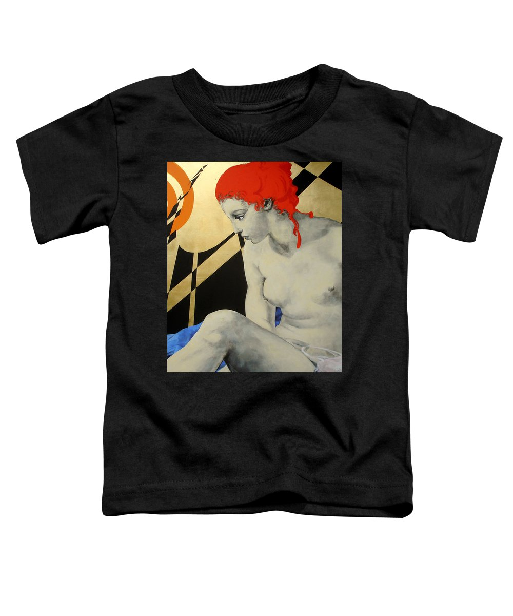 Mythology Toddler T-Shirt featuring the painting Diana by Jean Pierre Rousselet