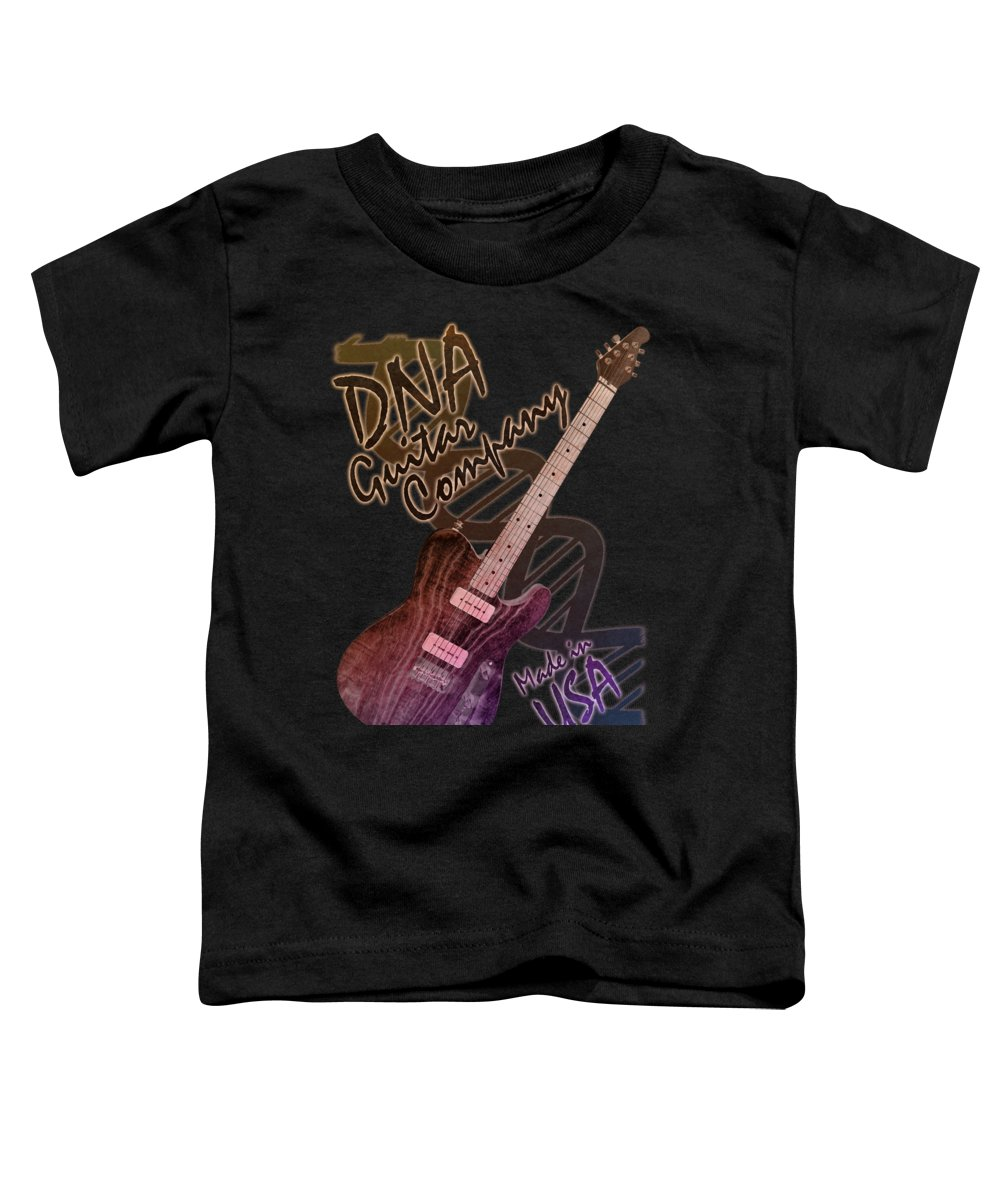 Dna Guitar Company T Shirt 2 Toddler T Shirt For Sale By