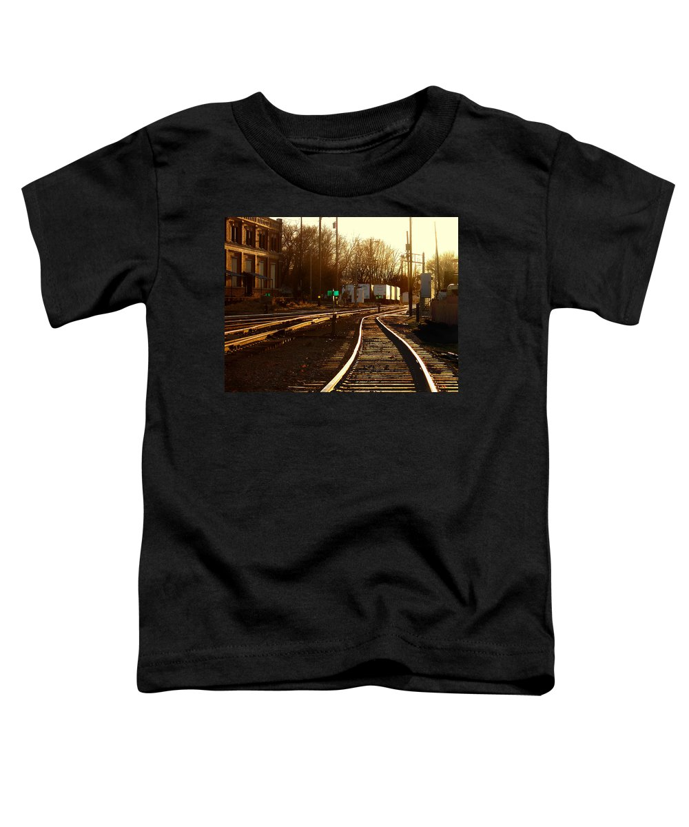 Landscape Toddler T-Shirt featuring the photograph Down The Right Track 2 by Steve Karol