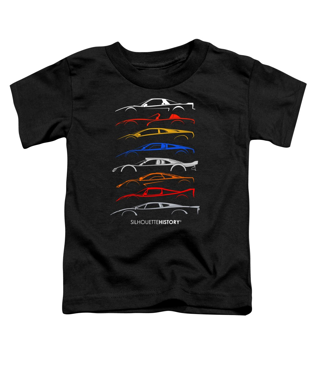 Acura Toddler T-Shirt featuring the digital art Dreamcars Of 90s Silhouettehistory by Gabor Vida