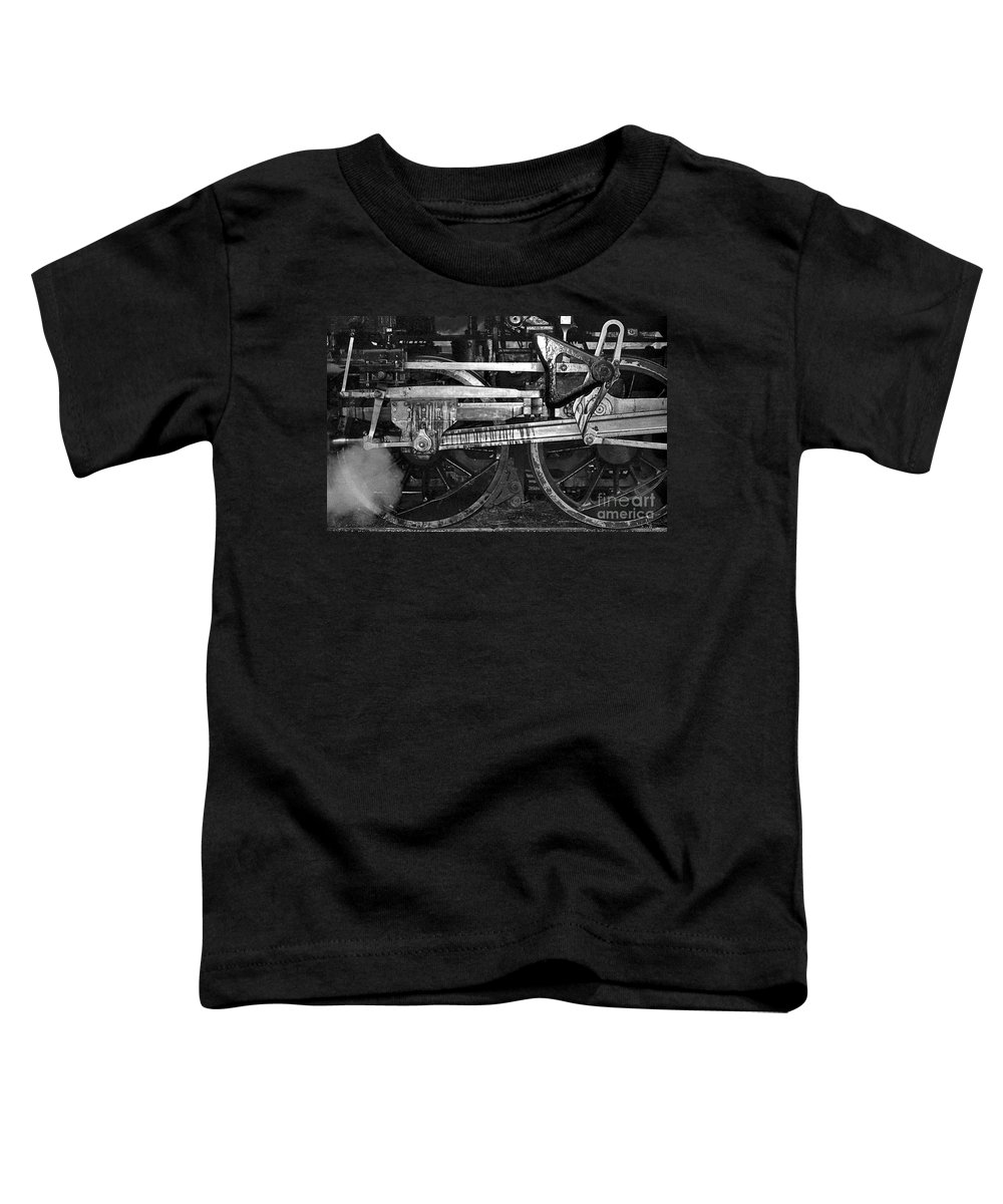 Trains Toddler T-Shirt featuring the photograph Driving Wheels by Richard Rizzo