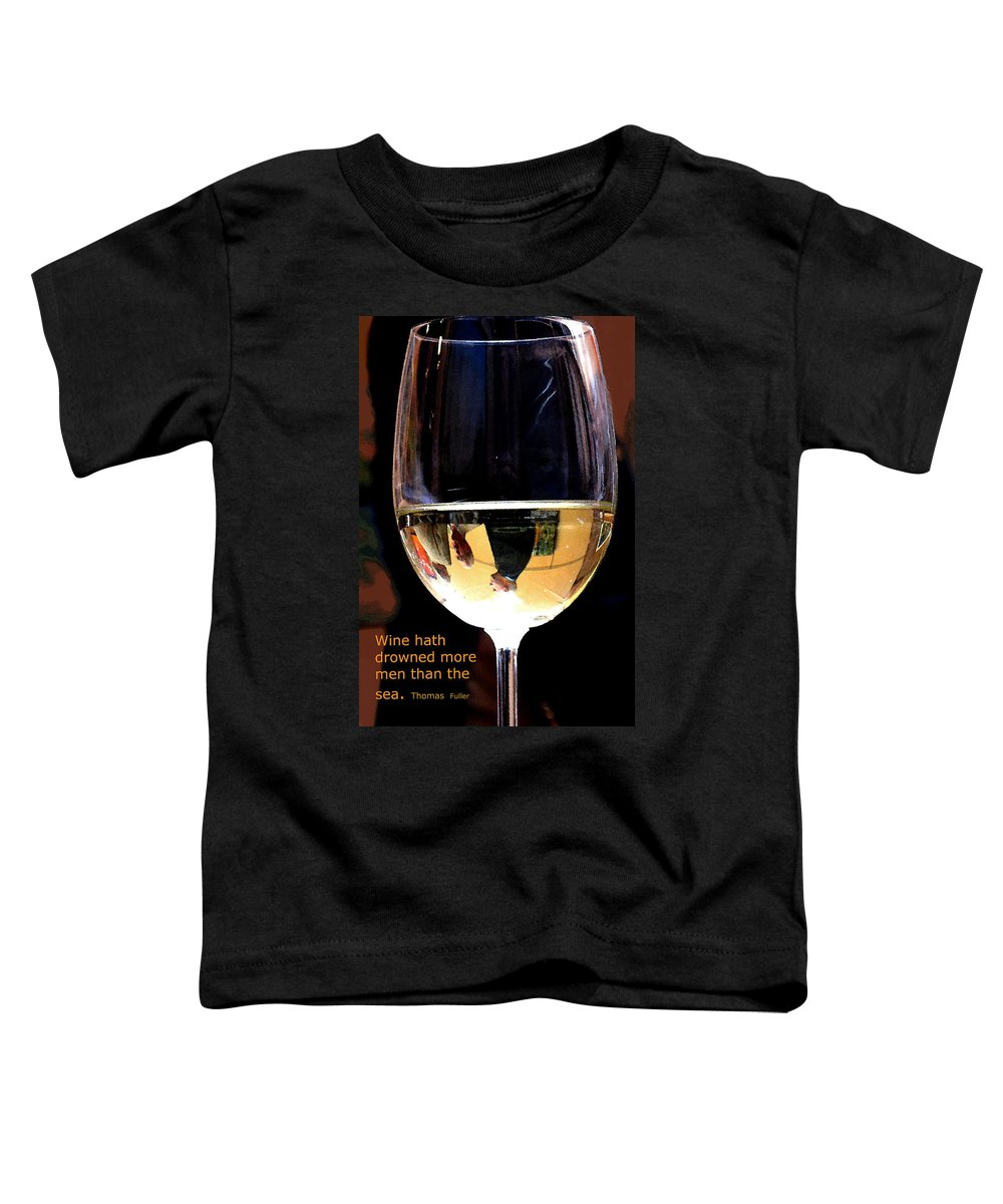 Wine Toddler T-Shirt featuring the photograph Drowning by Ian MacDonald
