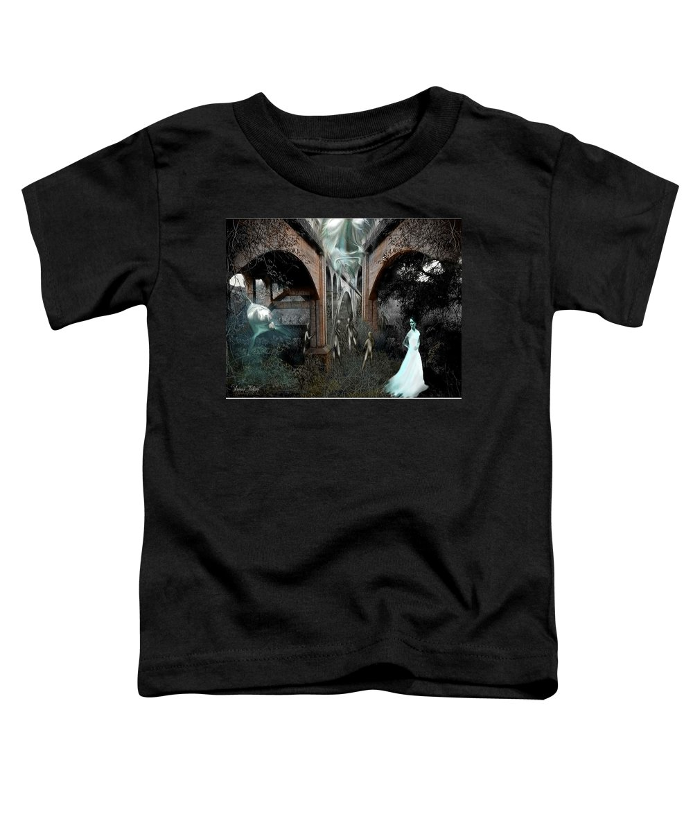 Eden Surreal Creatures Bridges Dreaming Toddler T-Shirt featuring the digital art Eden by Veronica Jackson