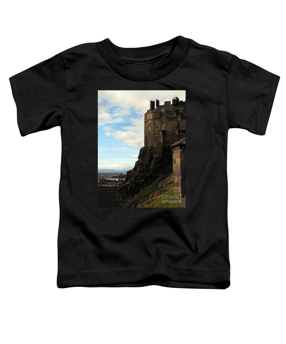 Castle Toddler T-Shirt featuring the photograph Edinburgh Castle by Amanda Barcon