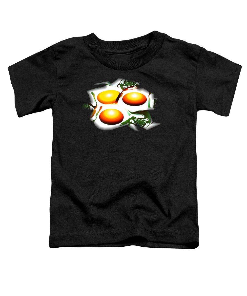Computer Toddler T-Shirt featuring the digital art Eggs For Breakfast by Anastasiya Malakhova