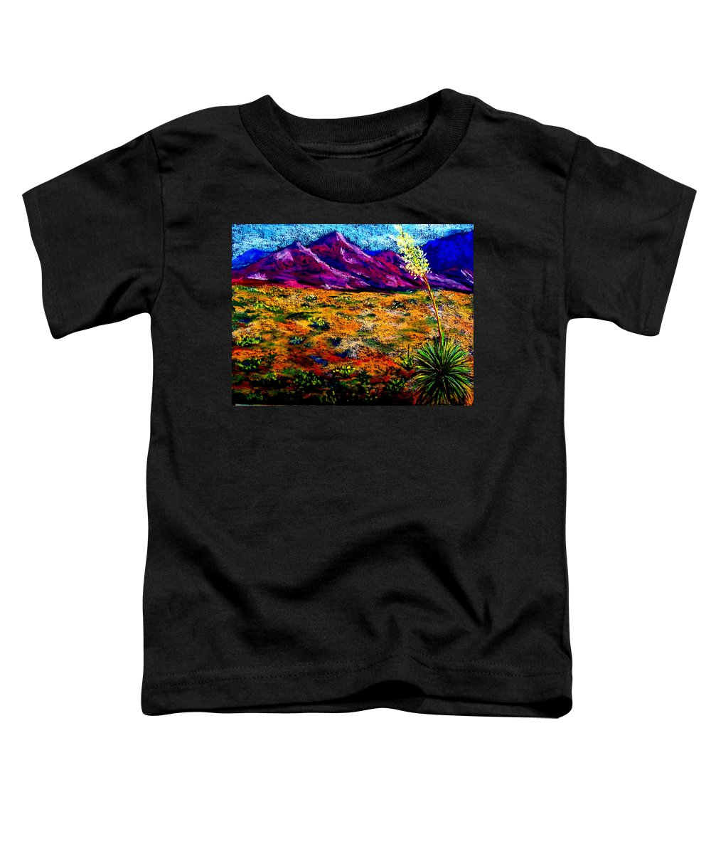 Yucca Toddler T-Shirt featuring the painting El Paso by Melinda Etzold