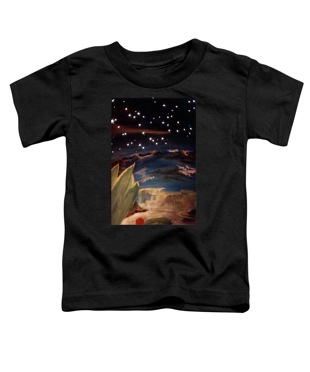 Surreal Toddler T-Shirt featuring the painting Enter My Dream by Steve Karol