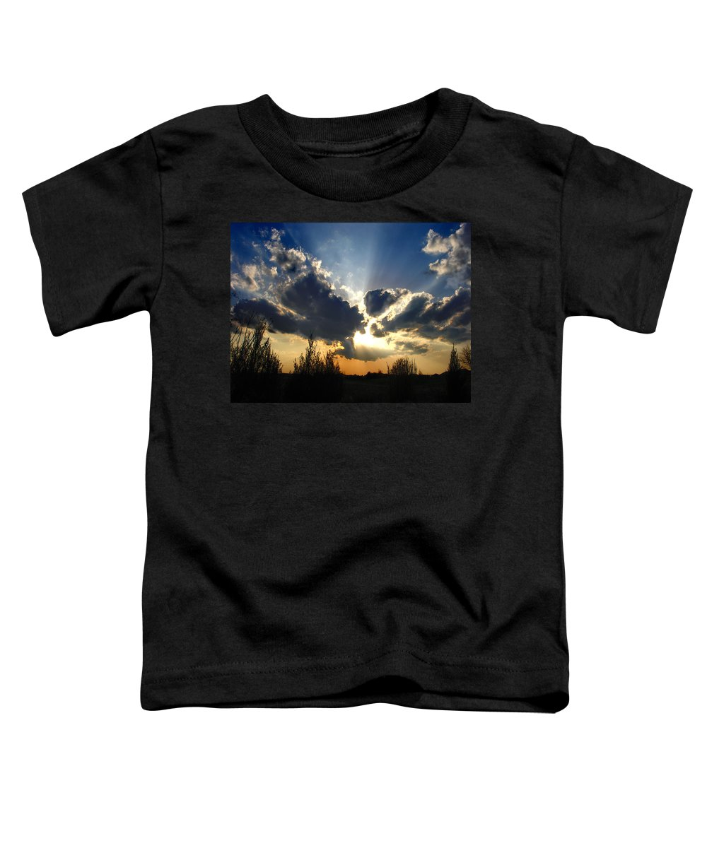 Landscape Toddler T-Shirt featuring the photograph Evening Sky by Steve Karol