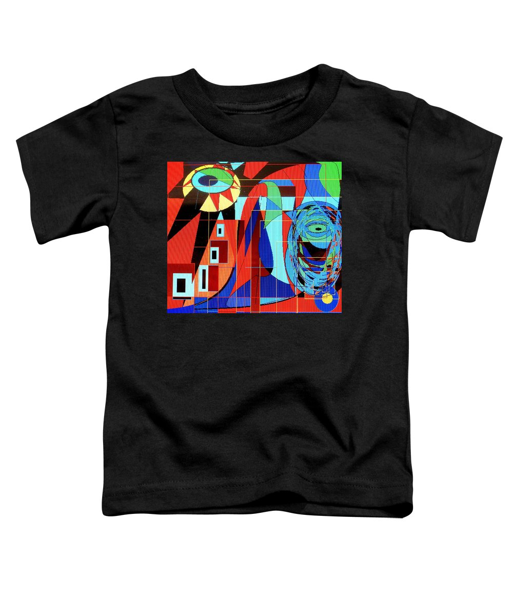 Eye Toddler T-Shirt featuring the digital art Eye Of The Tiger by Ian MacDonald