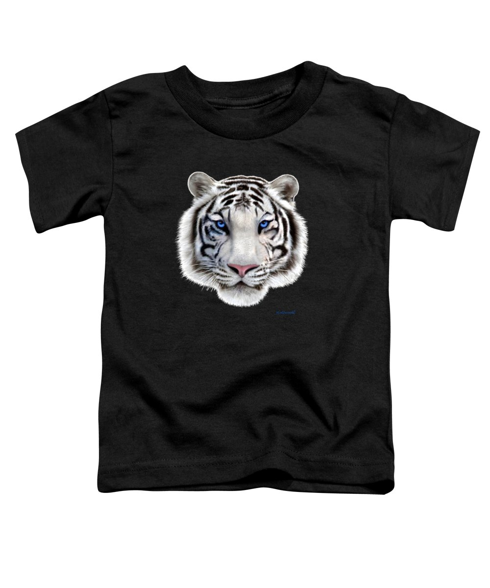Siberian Tiger Digital Art Toddler T-Shirts