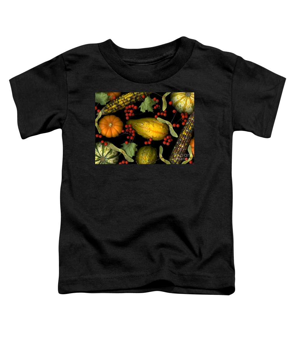 Slanec Toddler T-Shirt featuring the photograph Fall Harvest by Christian Slanec