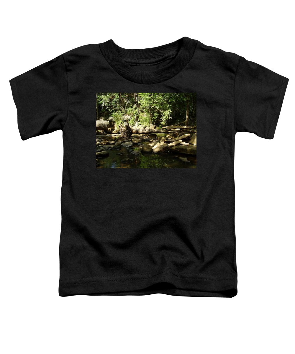 Falls Park Toddler T-Shirt featuring the photograph Falls Park by Flavia Westerwelle