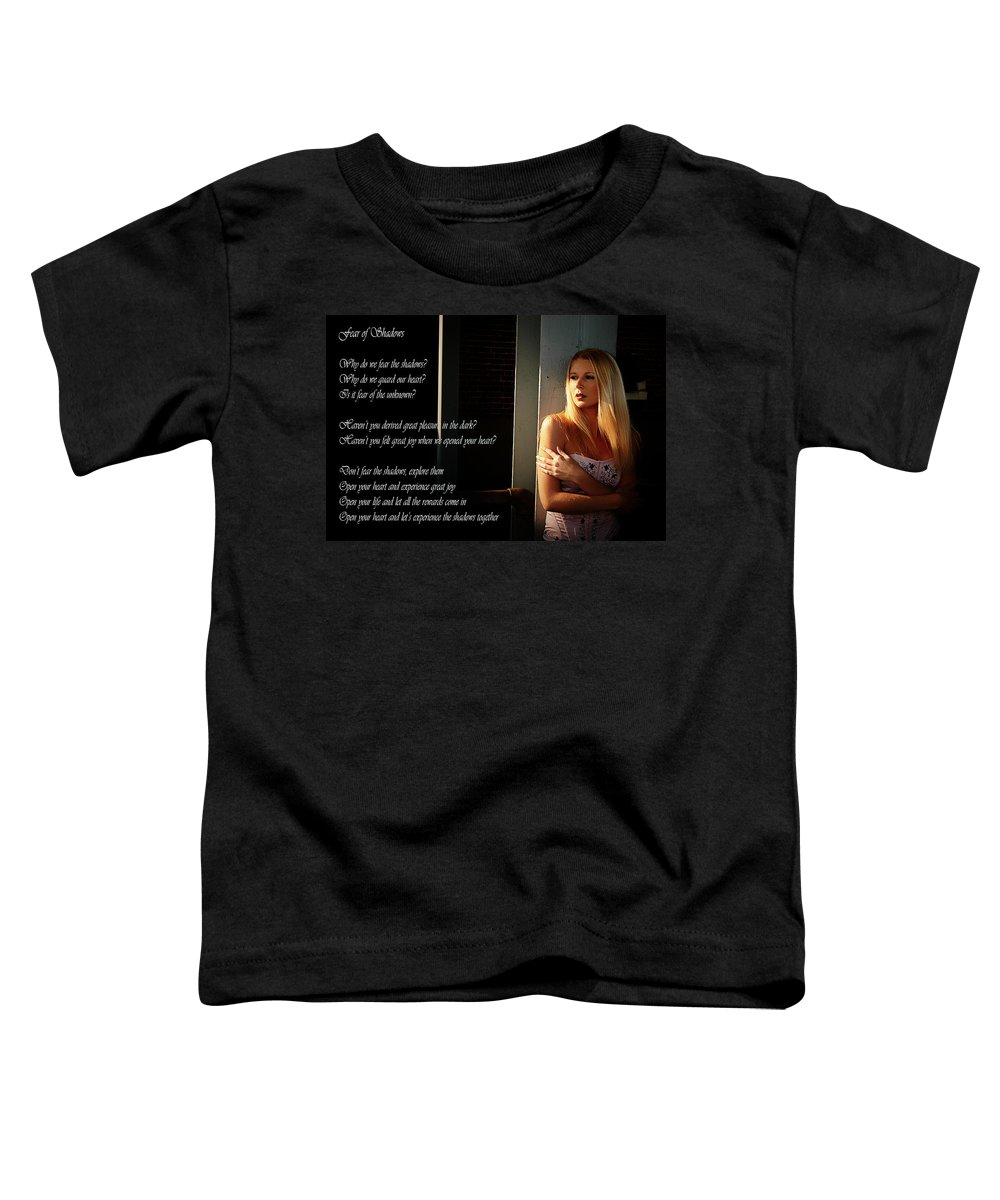 Clay Toddler T-Shirt featuring the photograph Fear Of Shadows by Clayton Bruster