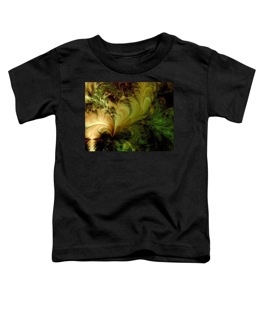 Feather Toddler T-Shirt featuring the digital art Feathery Fantasy by Casey Kotas
