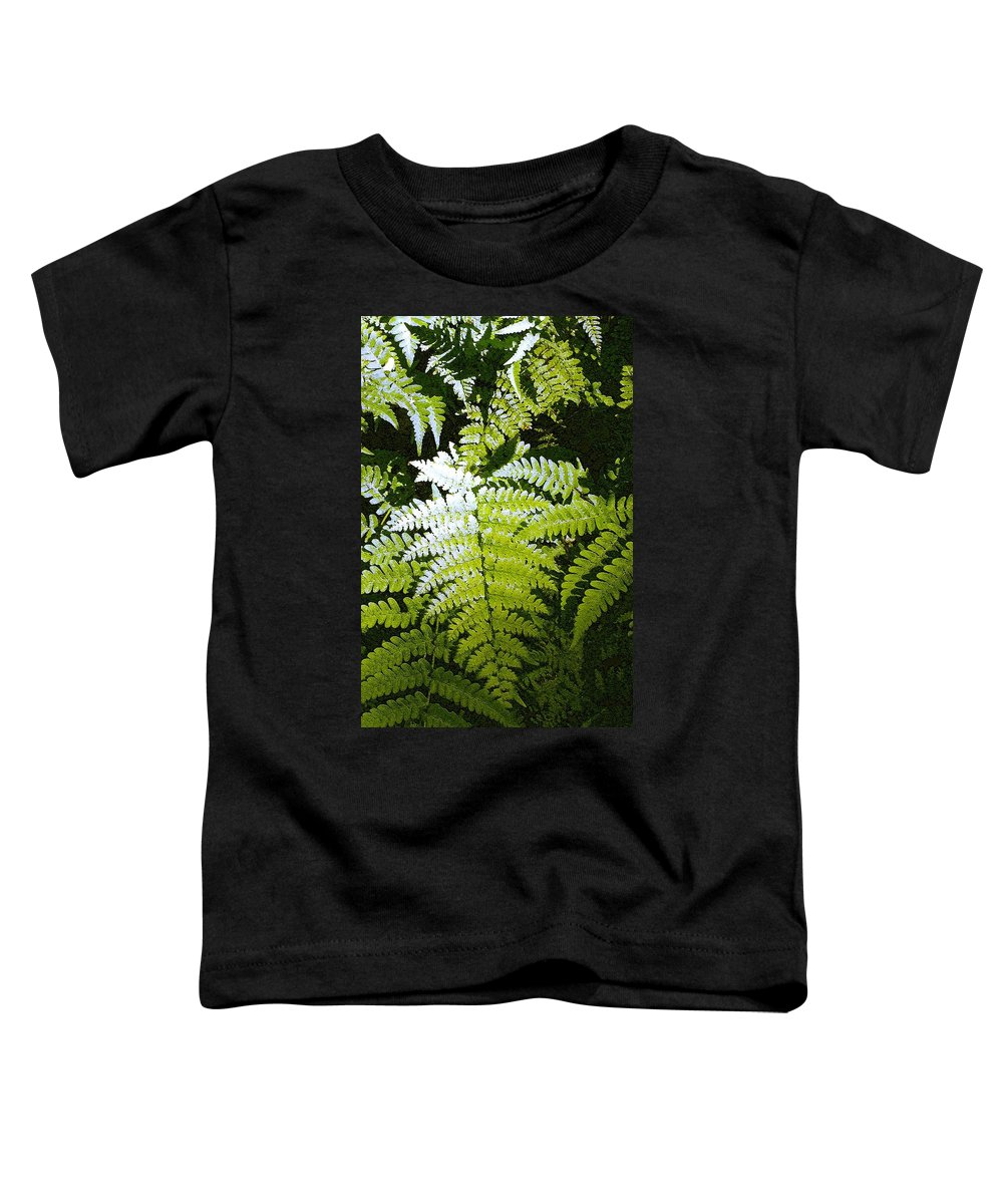 Ferns Toddler T-Shirt featuring the photograph Ferns by Nelson Strong