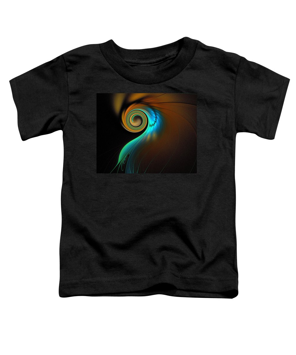 Digital Art Toddler T-Shirt featuring the digital art Fine Feathers by Amanda Moore