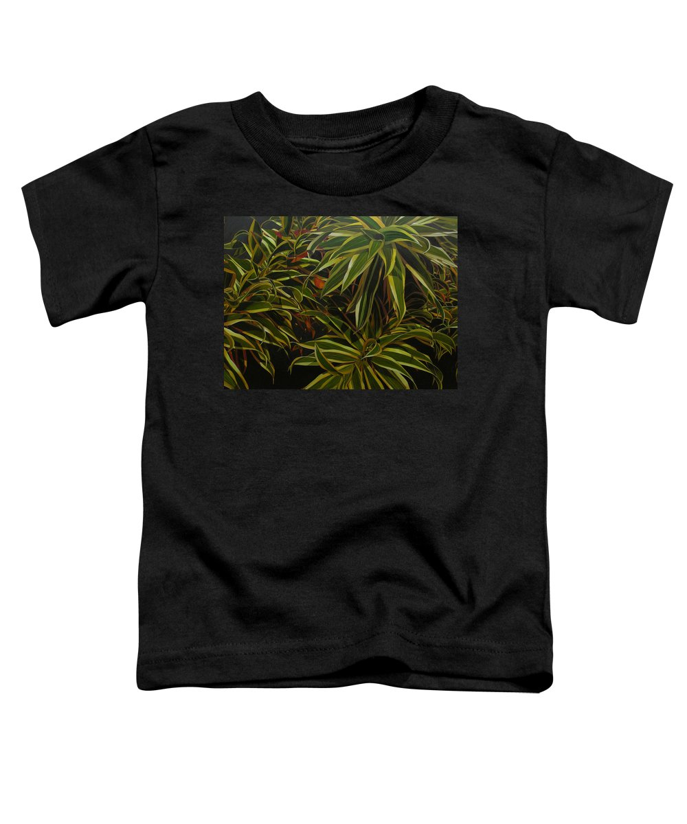 Leaves Toddler T-Shirt featuring the painting First In Cabot by Thu Nguyen