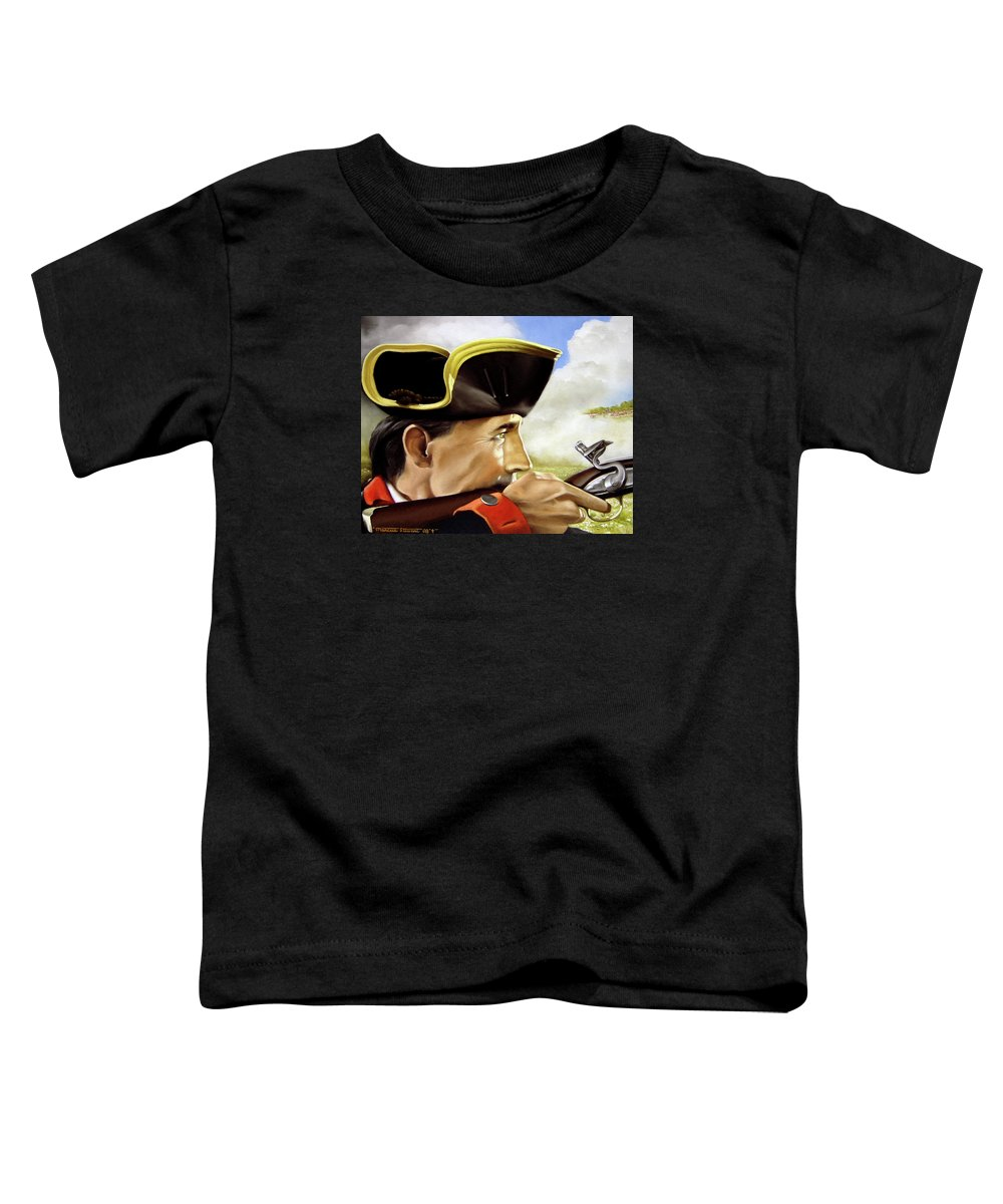 Continental Toddler T-Shirt featuring the painting First To Fight by Marc Stewart