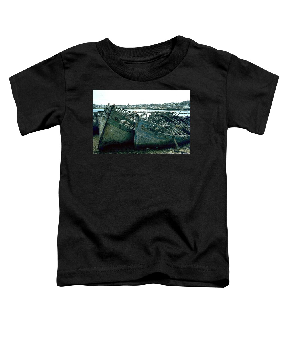 Fisher Boats Toddler T-Shirt featuring the photograph Fisher Boats by Flavia Westerwelle