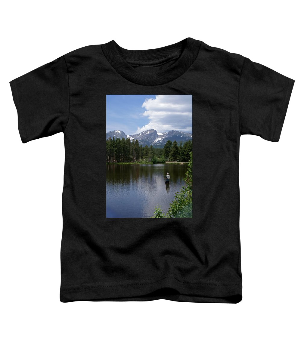 Fishing Toddler T-Shirt featuring the photograph Fishing In Colorado by Heather Coen