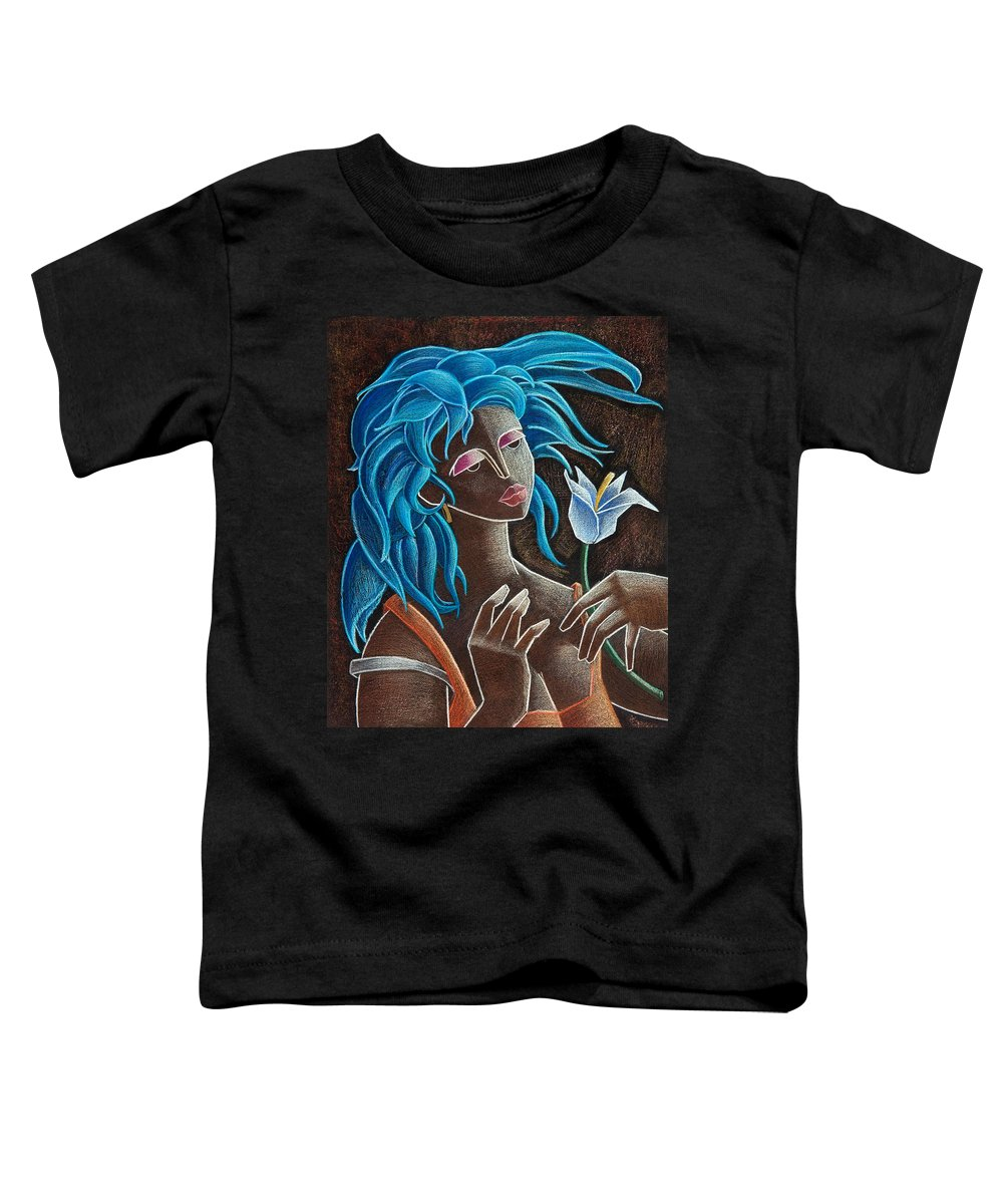 Puerto Rico Toddler T-Shirt featuring the painting Flor Y Viento by Oscar Ortiz