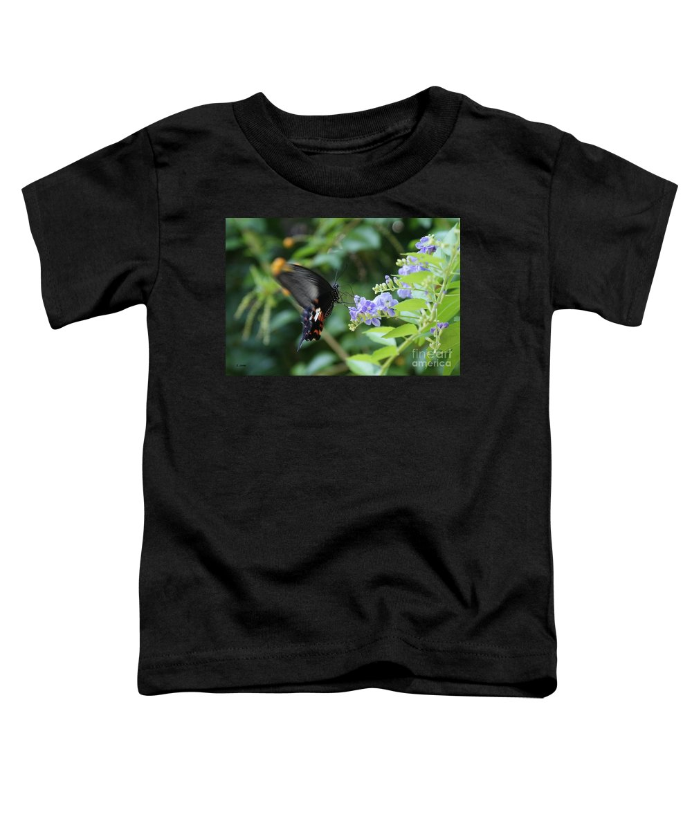 Butterfly Toddler T-Shirt featuring the photograph Fly In Butterfly by Shelley Jones