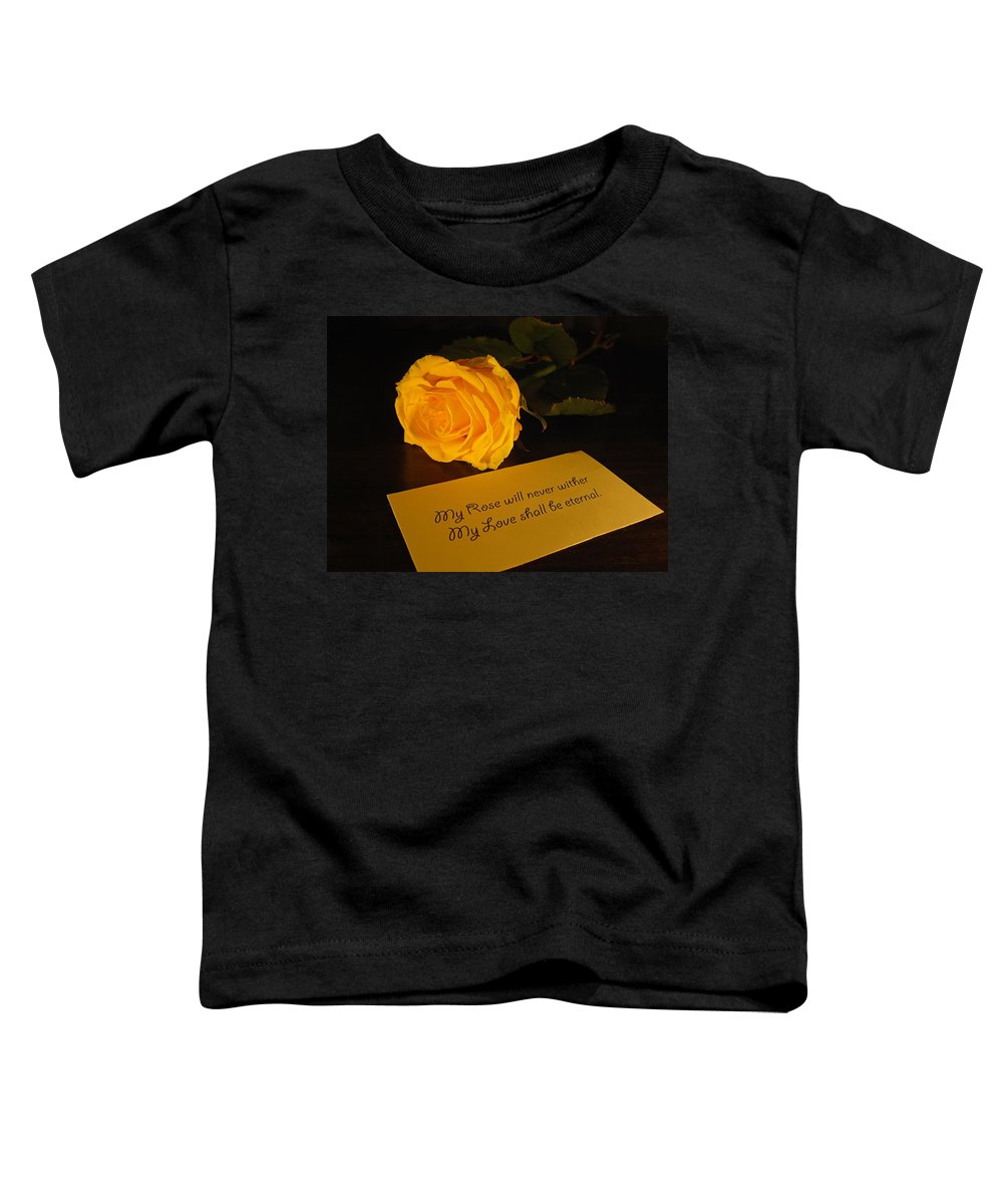 Valentine Toddler T-Shirt featuring the photograph For My Love by Daniel Csoka
