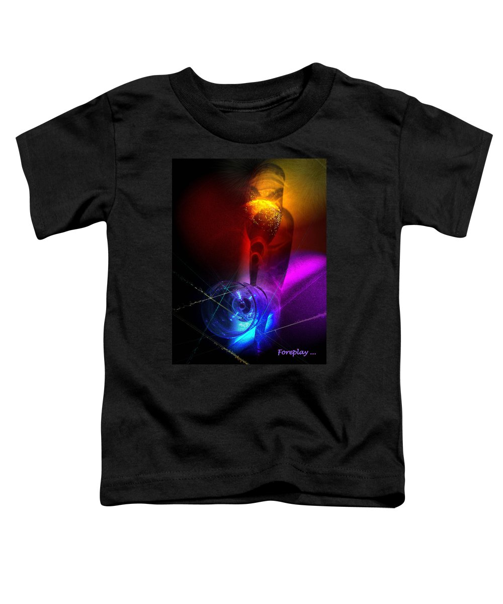 Fantasy Toddler T-Shirt featuring the photograph Foreplay by Miki De Goodaboom