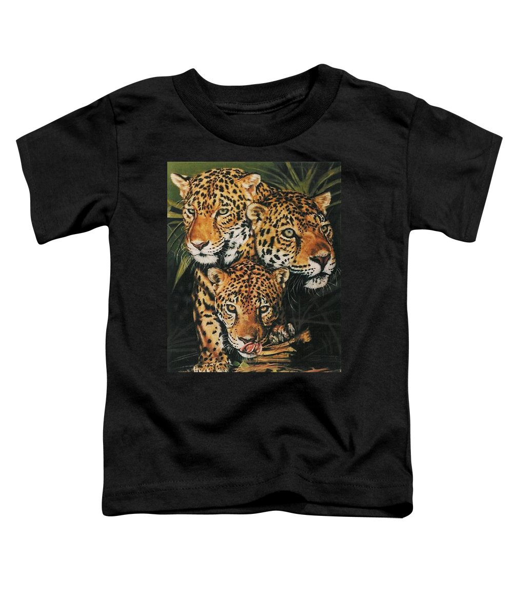 Jaguar Toddler T-Shirt featuring the pastel Forest Jewels by Barbara Keith