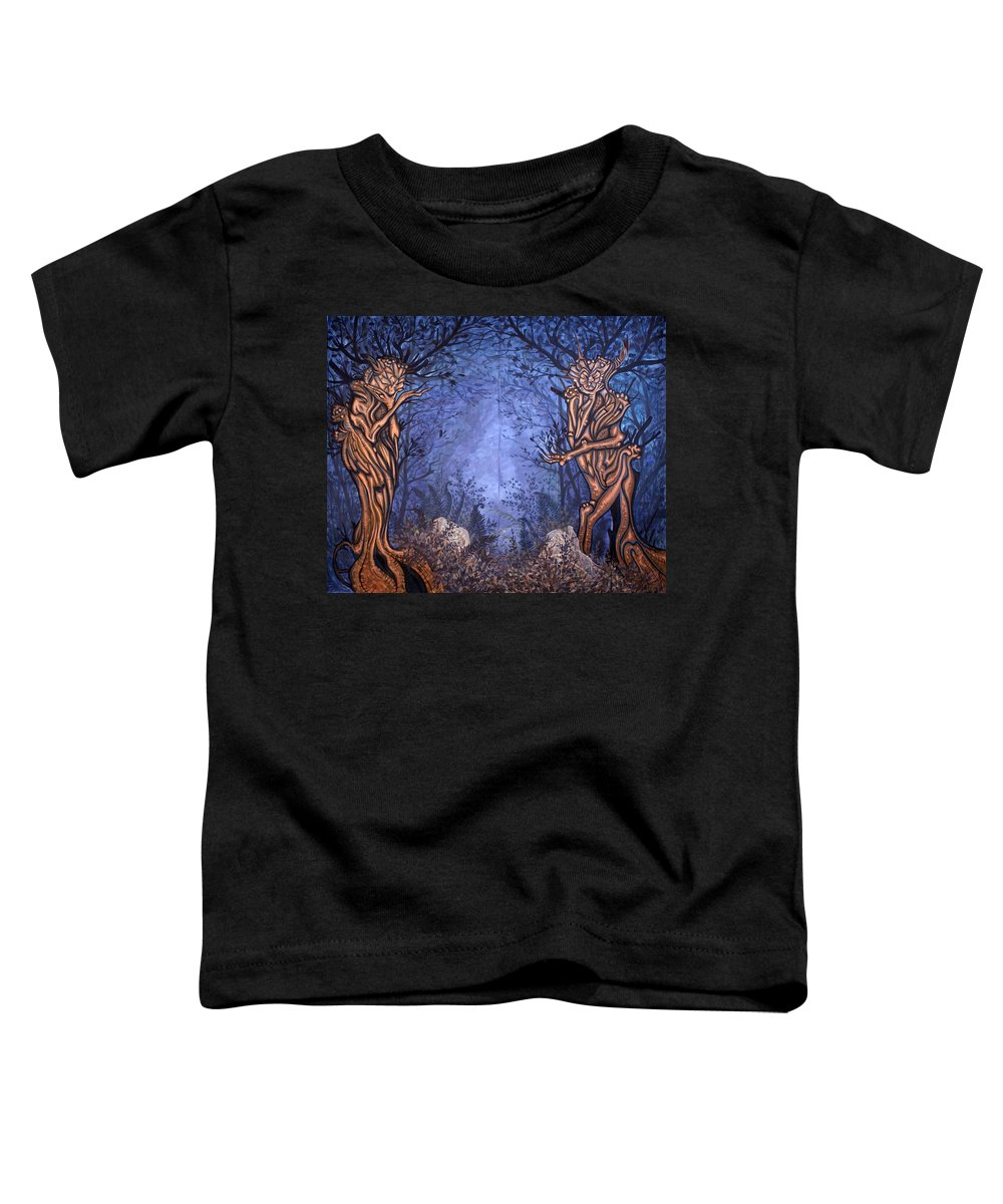 Mystic Toddler T-Shirt featuring the painting Forest by Judy Henninger