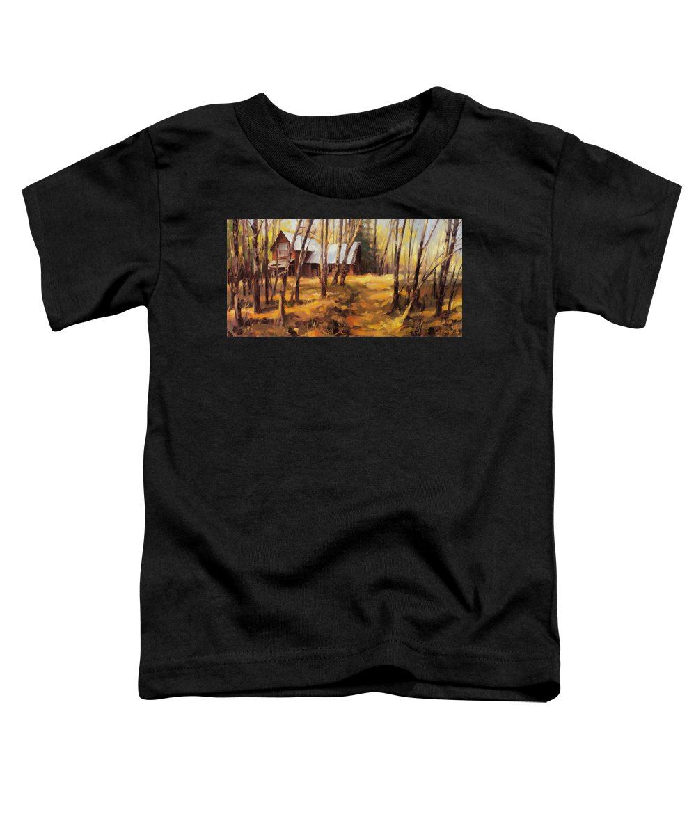 Country Toddler T-Shirt featuring the painting Forgotten Path by Steve Henderson
