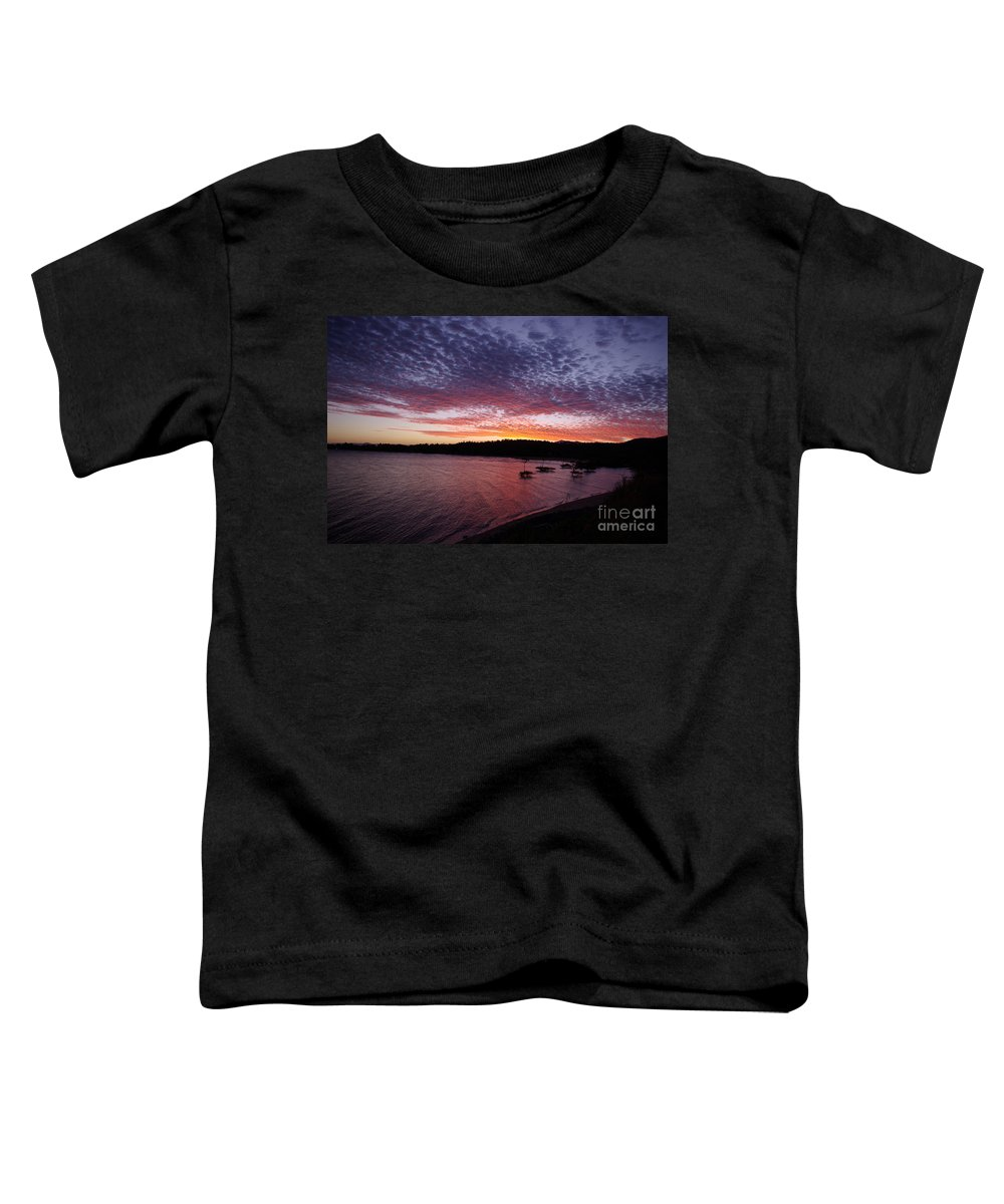 Landscape Toddler T-Shirt featuring the photograph Four Elements Sunset Sequence 1 Coconuts Qld by Kerryn Madsen - Pietsch