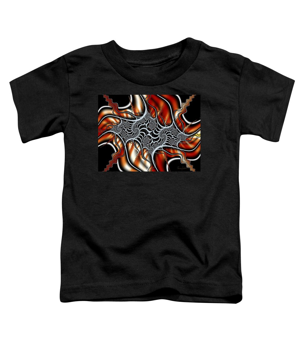 Veins Strings Lines Toddler T-Shirt featuring the digital art Fractal 3 by Veronica Jackson