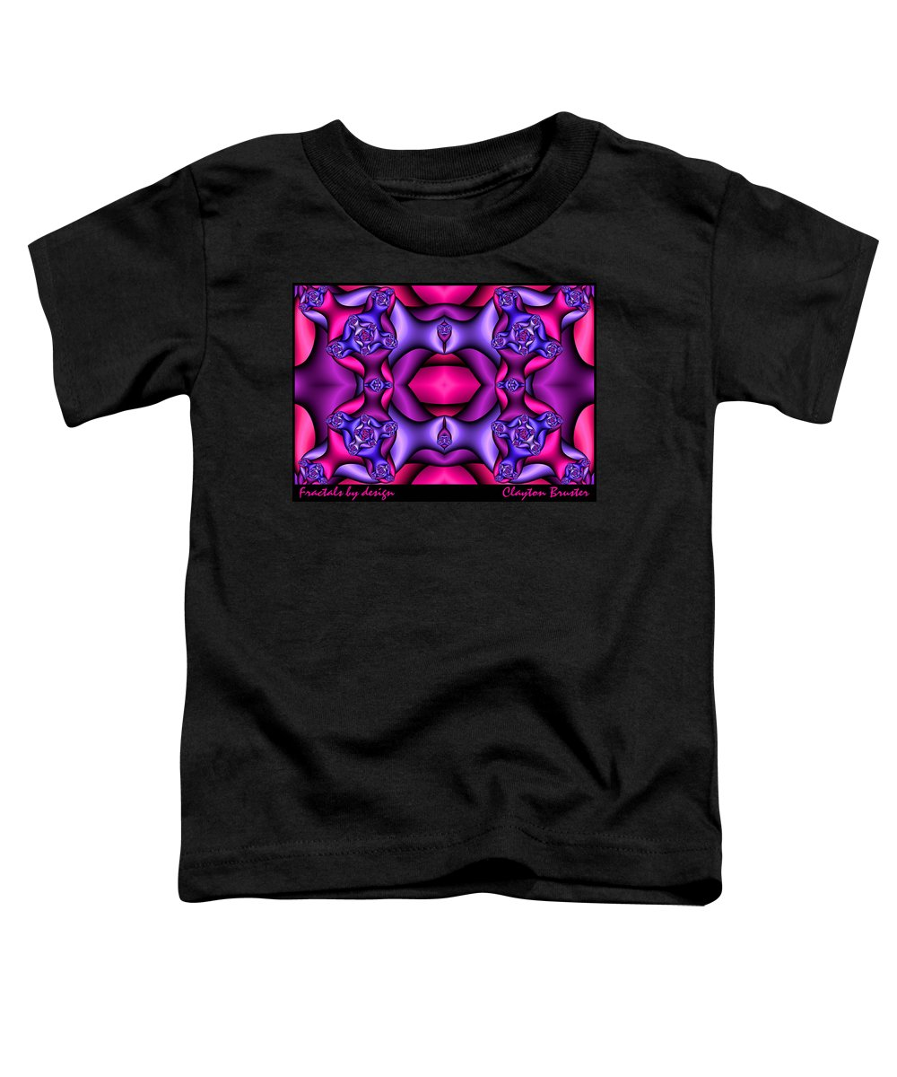 Toddler T-Shirt featuring the digital art Fractals By Design by Clayton Bruster