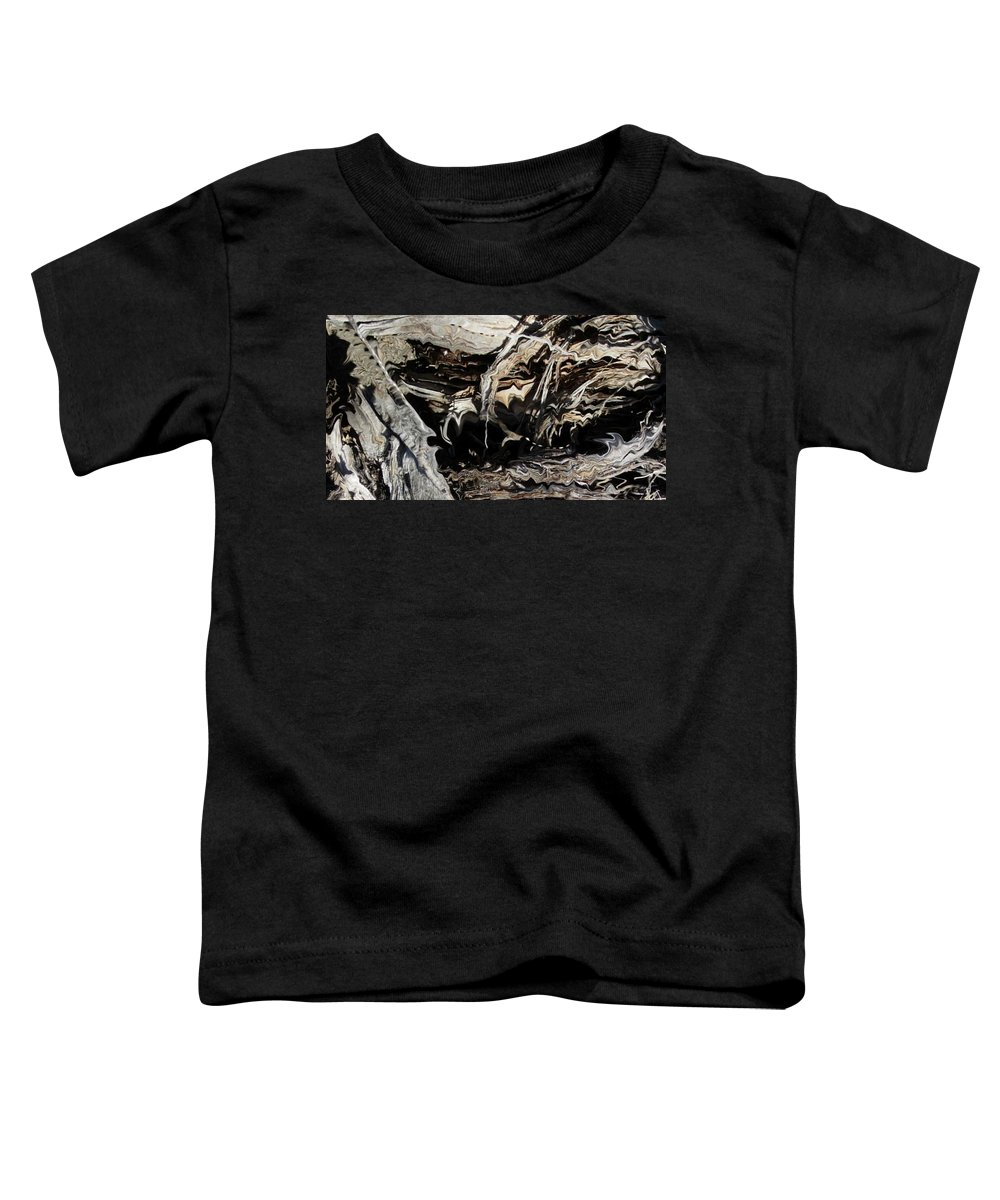 Abstract Art Toddler T-Shirt featuring the photograph Frayed and Distracted Thoughts by Stephanie H Johnson