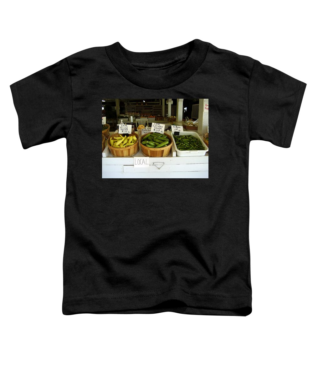 Fresh Produce Toddler T-Shirt featuring the photograph Fresh Produce by Flavia Westerwelle