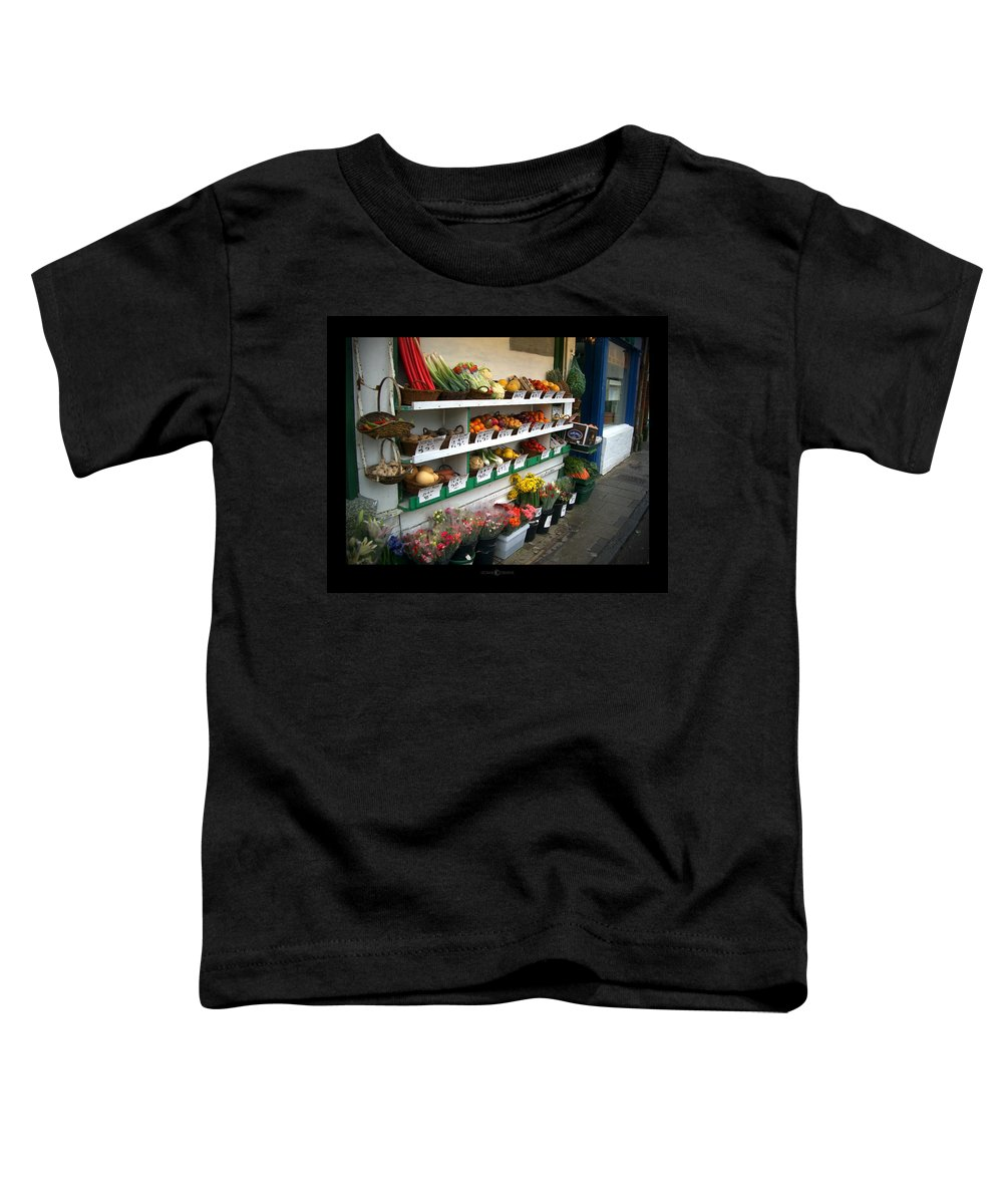 Shaftesbury Toddler T-Shirt featuring the photograph Fresh Produce by Tim Nyberg