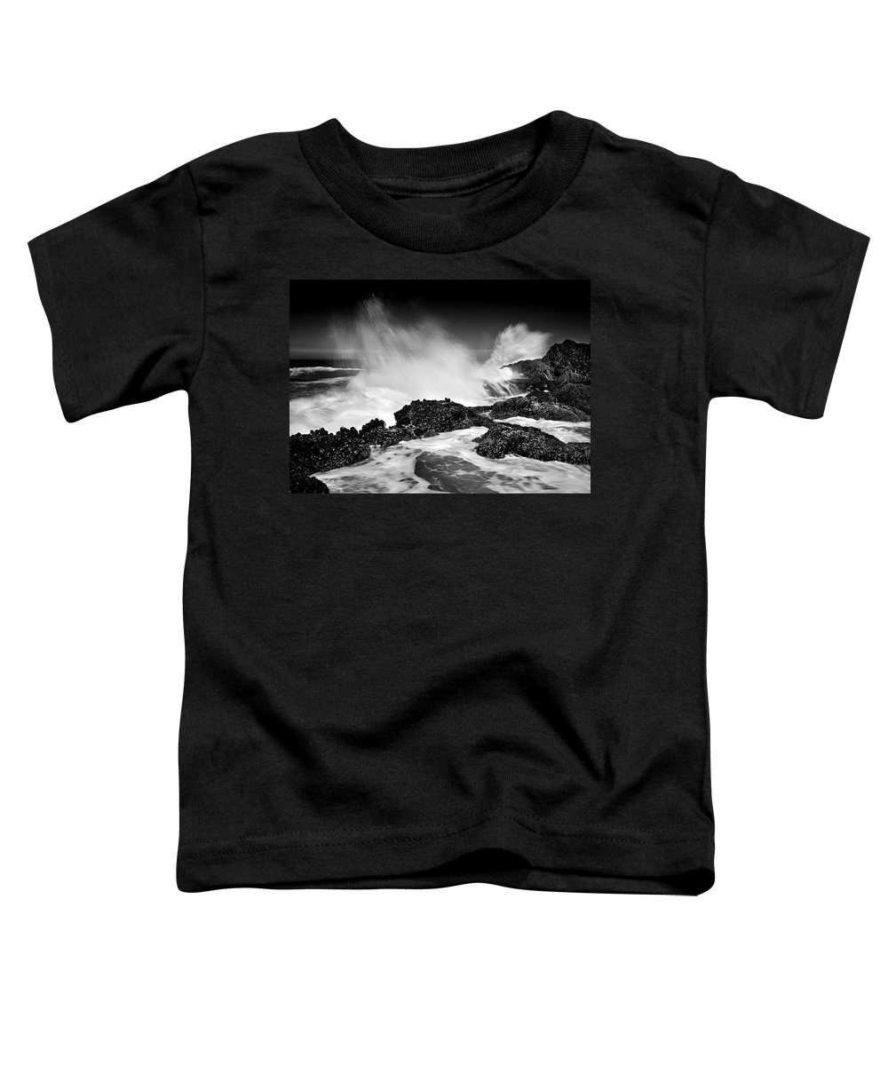 Waves Toddler T-Shirt featuring the photograph Fury by Mike Dawson